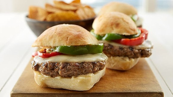 SERVINGS: 4 Ingredients Garlic Parmesan Aioli 1/3 cup mayonnaise 2 tablespoons grated Parmesan cheese 2 cloves garlic, finely chopped Burgers ...