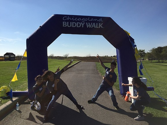 Joliet Central High School Key Club members donated their time and talents to the Chicagoland Buddy Walk on October 9, ...