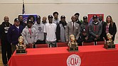 Supt. Dorsey Hopson and Shelby County Schools celebrated the championships of East, Trezevant and Whitehaven High Schools during a press conference on Monday. (Photo: Terry Davis)