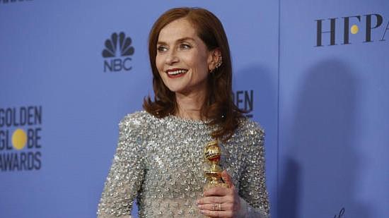 Among the biggest surprises of the night at the Golden Globes was Isabelle Huppert's win in the category of actress ...