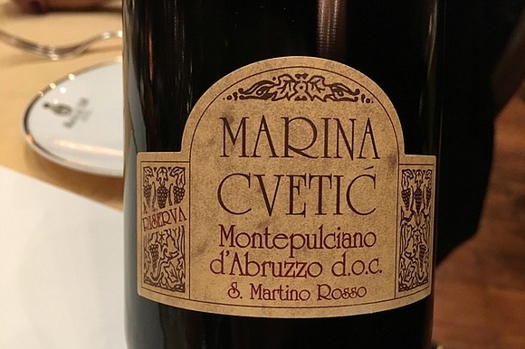 Marina Cvetic Montepulciano D'Abruzzo FOC San Martino Rosso ($29.99) is a rich robust wine that is perfect for the foods ...