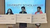The 2016 Diversity Scholarship recipients representing the West, Middle, and East regions of Tennessee. (Courtesy photo)
