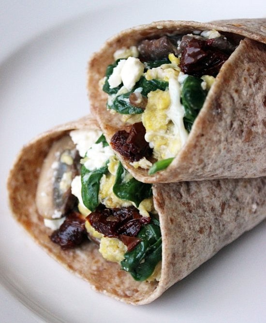 SERVINGS: 1-2 INGREDIENTS 1 7-inch whole-wheat tortilla 1/4 cup sliced mushrooms 1/4 teaspoon black pepper 2 cups fresh spinach 1 ...