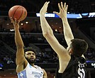 Nate Fowler and Butler played hard but beating Joel Berry II and the Tar Heels of North Carolina was too much of a stretch. (Photo: Warren Roseborough)