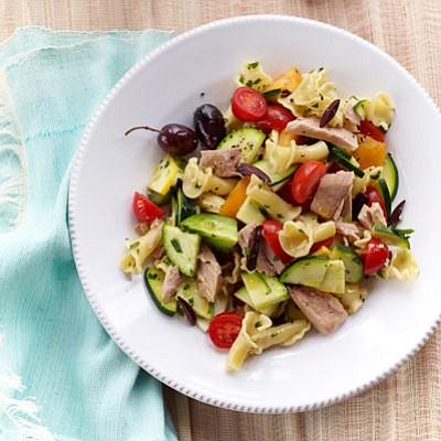 SERVINGS: 6 INGREDIENTS Salt & pepper 1 lb. campanelle or fusilli pasta 2 medium zucchini 1 medium yellow squash 1 ...