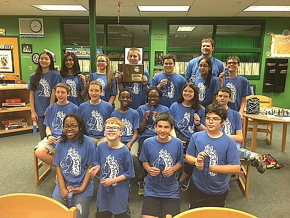 Jane Addams Middle School's Scholastic Bowl team continued its amazing season by winning an Illinois Elementary School Association Class AA ...
