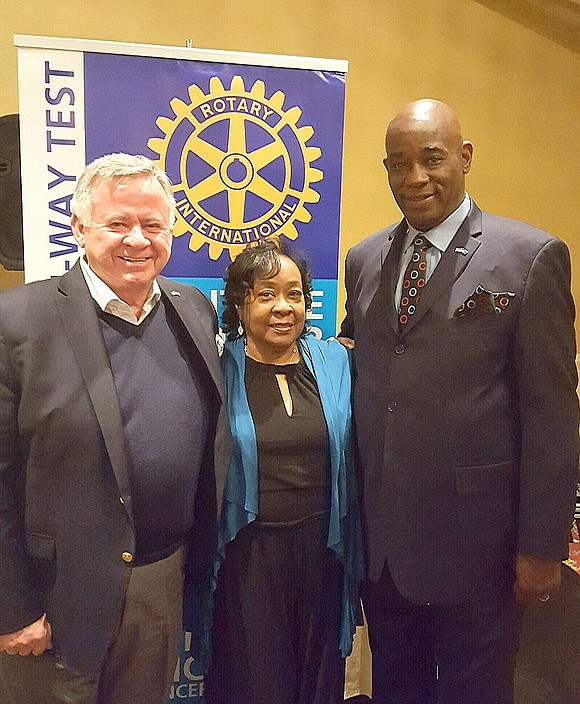 Valley View School District 365U School Safety Coordinator Leroy Brown was named a Paul Harris Fellow recently at Rotary Club ...