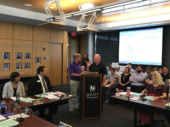 Dan O'Connell of Joliet was sworn in to the Joliet Junior College Board of Trustees. O'Connell is no stranger to ...