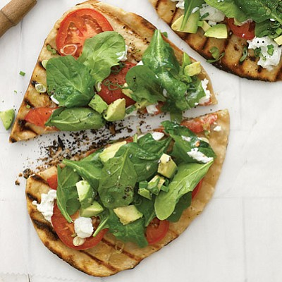 SERVES: 4 / TOTAL TIME: 0:25 INGREDIENTS • 3 tbsp. olive oil • all-purpose flour • 1 lb. store-bought pizza ...