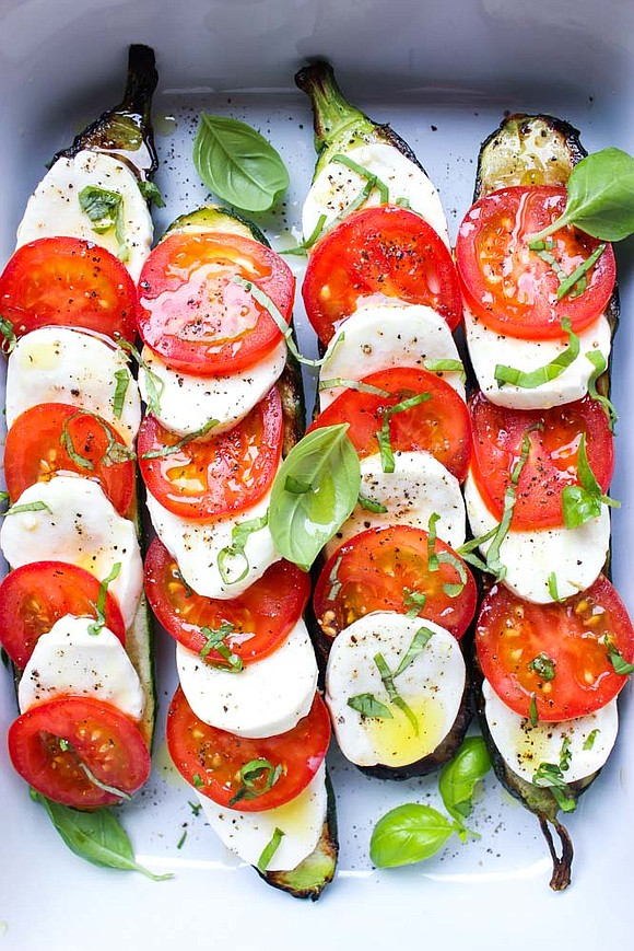 Serves: 6-8 / TOTAL TIME 20 mins INGREDIENTS • 3 medium zucchini (1½ lbs.), cut lengthwise • 5 cocktail tomatoes, ...