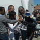 Sun watchers gather around telescopes fitted with white light solar filters. Image Credit: NASA Kepler Mission