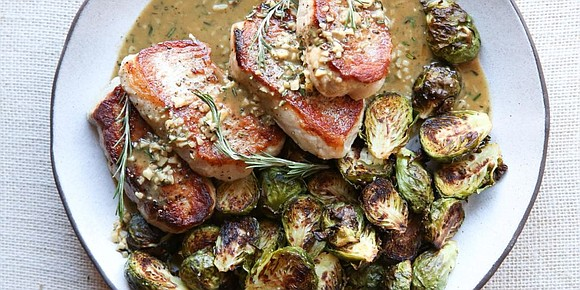 SERVINGS: 4 / TOTAL TIME: 0:30 INGREDIENTS • 1 lb. Brussels sprouts, trimmed and halved • extra-virgin olive oil • ...
