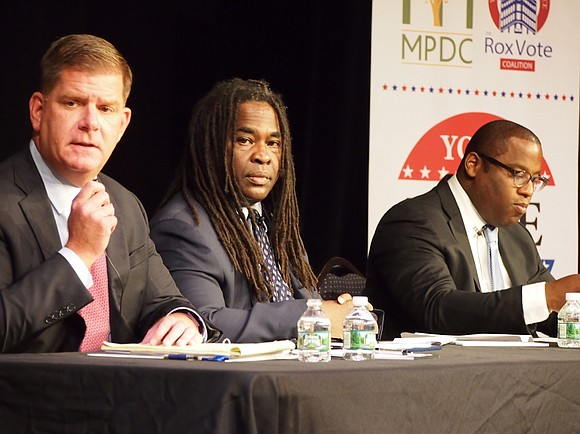 Mayor Martin Walsh and District 7 City Councilor Tito Jackson clashed over issues of police accountability, economic development and education ...