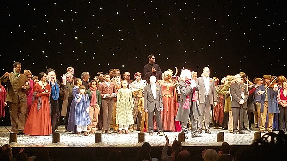 Goodman Theatre celebrated its 40th Anniversary production of its beloved Charles Dickens' A Christmas Carol with an onstage finale featuring ...