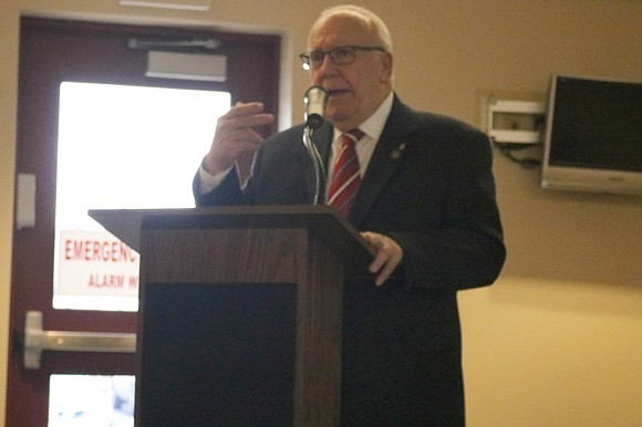Mayor Rick Chapman delivered his State of the Village Address Tuesday, March 27, in front of a crowd of business ...