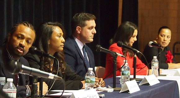 The gloves came off Monday as five candidates for the Suffolk County District Attorney's office participated in a forum at ...