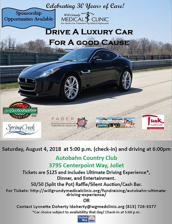 Tickets include ultimate driving experience, dinner and entertainment.