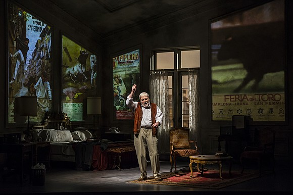 The esteemed television, stage and film giant Stacy Keach's onstage transformation into that giant of the literary world, Ernest Hemingway, ...