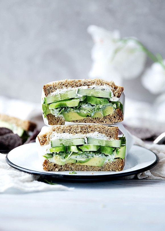 Yields 2 large sandwiches / Total Time: 20 mins INGREDIENTS For the yogurt dressing • 3 tablespoons greek yogurt • ...