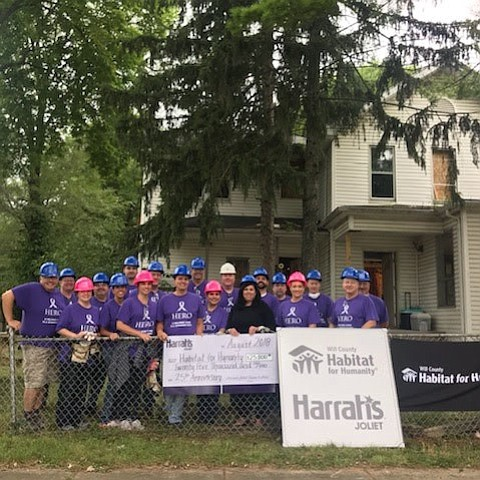 Harrah's Casino, Joliet and Will County Habitat for Humanity are celebrating together. Harrah's in Joliet is celebrated its 25th Anniversary, ...