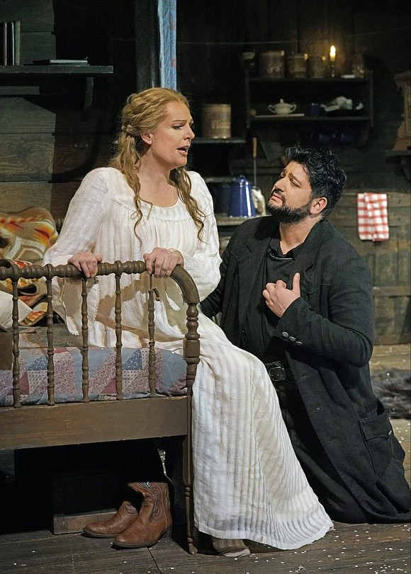 Solid singing performances propel an otherwise rather staid production of Puccini's single opera set in America's Old West, La Fanciulla ...