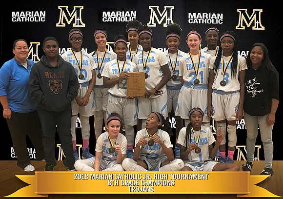 Both the Troy Middle School 7th and 8th grade Girls Basketball Teams were named champions at the recent Junior High ...