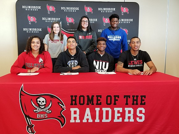 Seven Bolingbrook HS senior student-athletes signed letters of intent to continue their academic studies and athletic careers next year in ...