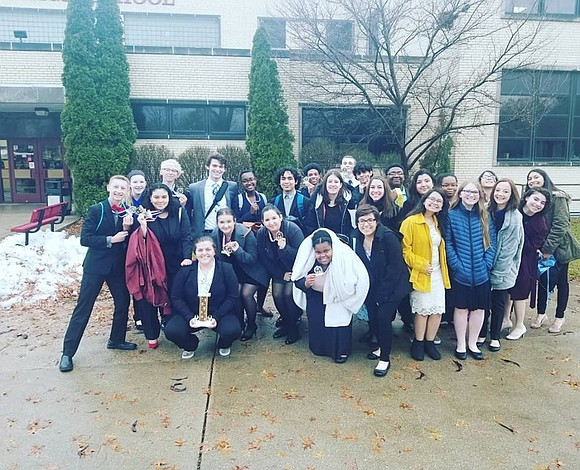 The Joliet Central High School Speech team took 3rd place out of 12 schools at the Morris High School Speech ...