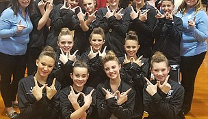 Troy Middle School Dance Team members are, top from left: Emily Scott, Alyssa Hoffman, Alaina Berk, Maisie Olznoi, McKenna Anderson, and Maria Grimanis. Middle from left: Emma Edson, Cailey Koerner and Ava Goodwin. Bottom from left: Maddy Slinkard, Emmy Rosado, Karlie Werrbach and Victoria Andreano.