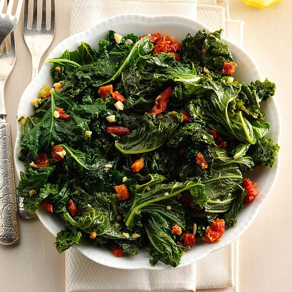 Servings: 4 / Total Time: 30 Mins Ingredients • 1 pound kale, trimmed and torn (about 20 cups) • 2 ...