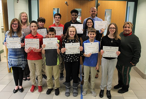The Shorewood Lions Club recognized Troy Community School District 30-C 2018 November Students of the Month at the school district's ...