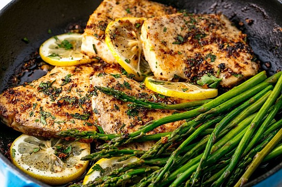YIELDS: 4 / TOTAL TIME: 20 MINS INGREDIENTS 3 tbsp. butter, divided 1 tbsp. extra-virgin olive oil 4 4-oz. mahi ...