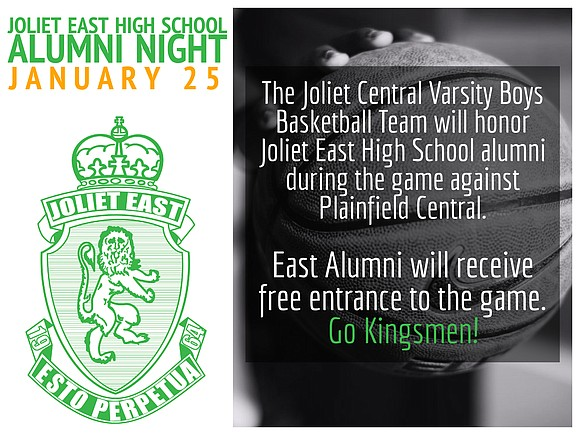 The Joliet Central High School varsity boys basketball team will honor Joliet East alumni during the game against Plainfield Central.