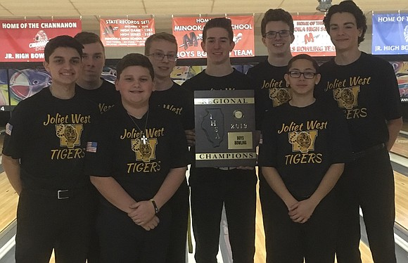 The Joliet West Boys Bowling Team won the Minooka Regional and qualified for Sectionals with a six-game total of 6,636 ...