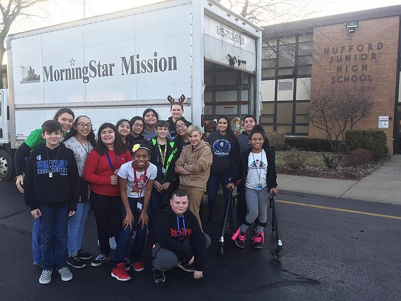 Congratulations to the Hufford Junior High School students who recently completed two successful community service projects.