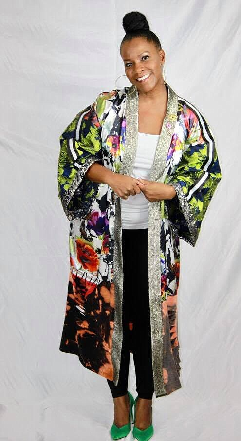 Fashion Stylist Lasonja Polk is giving A new meaning to the definition of wearing kimonos.