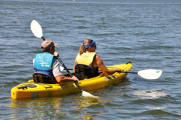 Visitors to the Forest Preserve District of Will County's Whalon Lake in Bolingbrook will have the option to rent kayaks ...