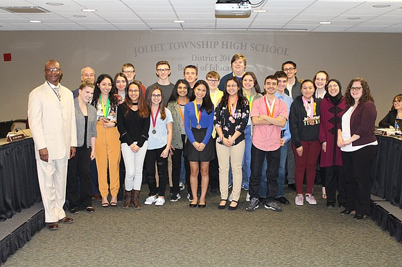 On March 19, 2019, the Joliet Township High School Board of Education recognized the Joliet West High School Science Olympiad ...
