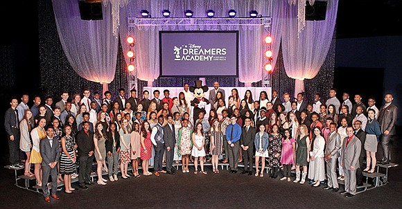 One hundred students from across the country celebrated the conclusion of the 12th annual Disney Dreamers Academy with Steve Harvey ...