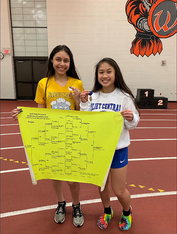 Joliet Central High School Girls Badminton team members Daisy Catalan and Lauryn Luangsomkham will compete in the IHSA Badminton State ...