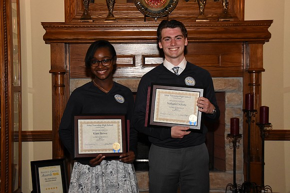 Joliet Central High School seniors Nathaniel Schultz and Kiara Brown were named Mr. and Ms. J for the 2018-2019 school ...