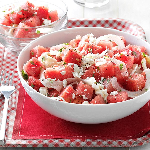 Servings: 8 / Total Time: 20 mins Ingredients • 6 cups cubed watermelon • 1/2 cup thinly sliced fennel bulb ...