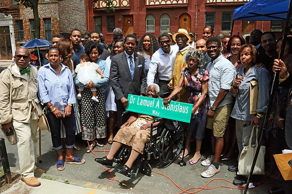 The Brooklyn street co-naming to celebrate Ambassador Dr. Lamuel A. Stanislaus