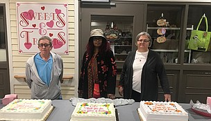 More than a century of service -- The employees and management of Sunnyhill Nursing Home recently honored three longtime employees with a combined 118 years of service. from left to right: Barb Brown served for 32 years in the environmental department, D.B. Alexander worked in the environmental services department for more than 47 years and was recently honored as the county's longest serving employee, and Shelly Hester served for 39 years in various roles most recently in payroll of the human resources department. (Photo courtesy of the Will County Executive Office.