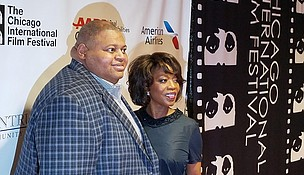 The late Black Perspectives Committee Chairman Randy Crumpton with 2017 Black Perspectives Tribute honoree Alfre Woodard