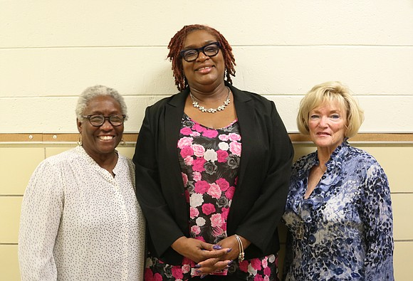 Congratulations to Joliet Public Schools District 86 Board of School Inspectors (from left to right) Gwendolyn Ulmer, Tonya Roberts, and ...