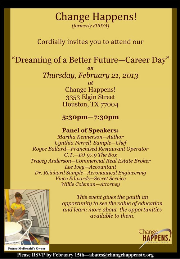 Change Happens Cordially Invites You To Attend Our Dreaming Of A