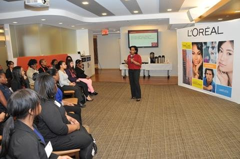 L'Oréal USA hosted 14 high school and 32 college students at its Fifth Avenue headquarters during Spring Break as part ...