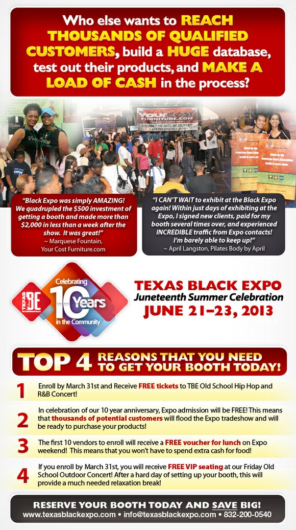 549129cf01a9c Reach Thousands of Consumers at Texas Black Expo 10 Year Celebration ...