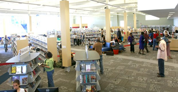 The newly remodeled Polk-Wisdom Branch Library interior.